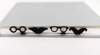 Metal Glasses / Moustache Bookmarks