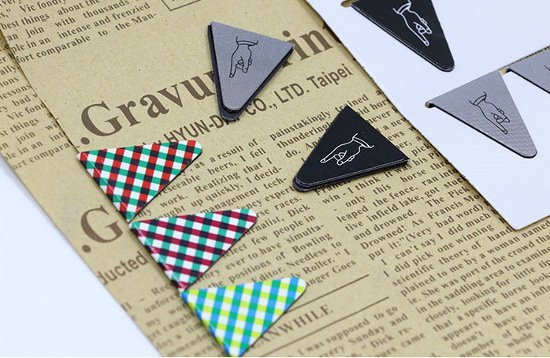 Triangle Bookmarks – Loose 2