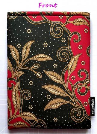 Booksleeve - Scarlet & Black Batik