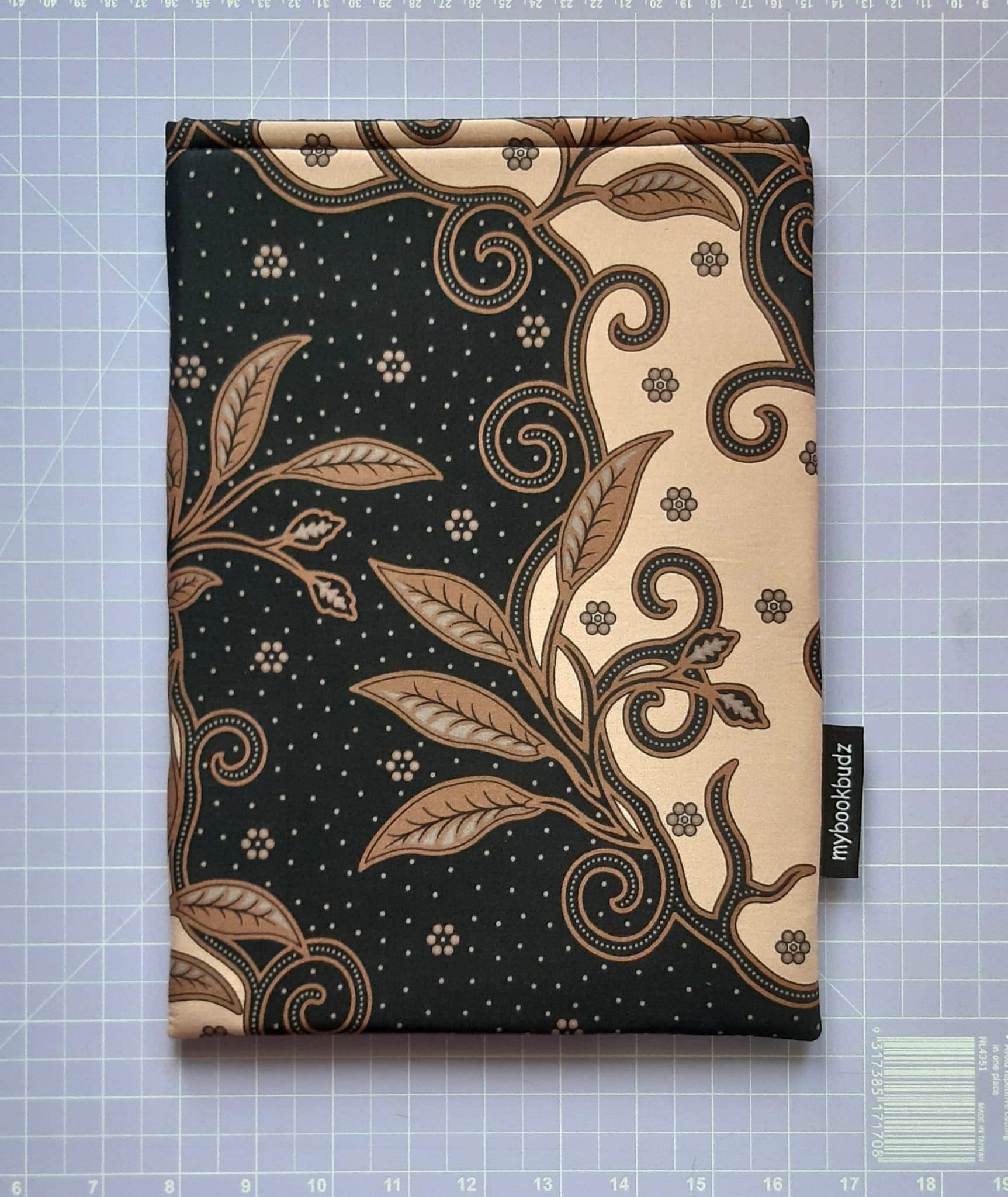 Beige and Black Booksleeve