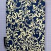 Booksleeve - Royal Blue with Floral