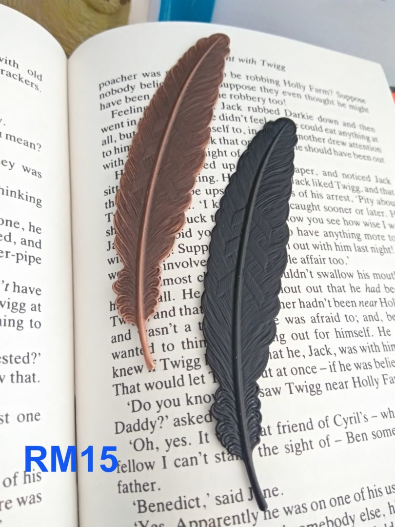 Feather Bookmark – with price