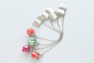 Chain Bookmark with Glass Ball