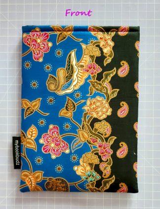 Booksleeve - Blue & Black Batik (Size M only)