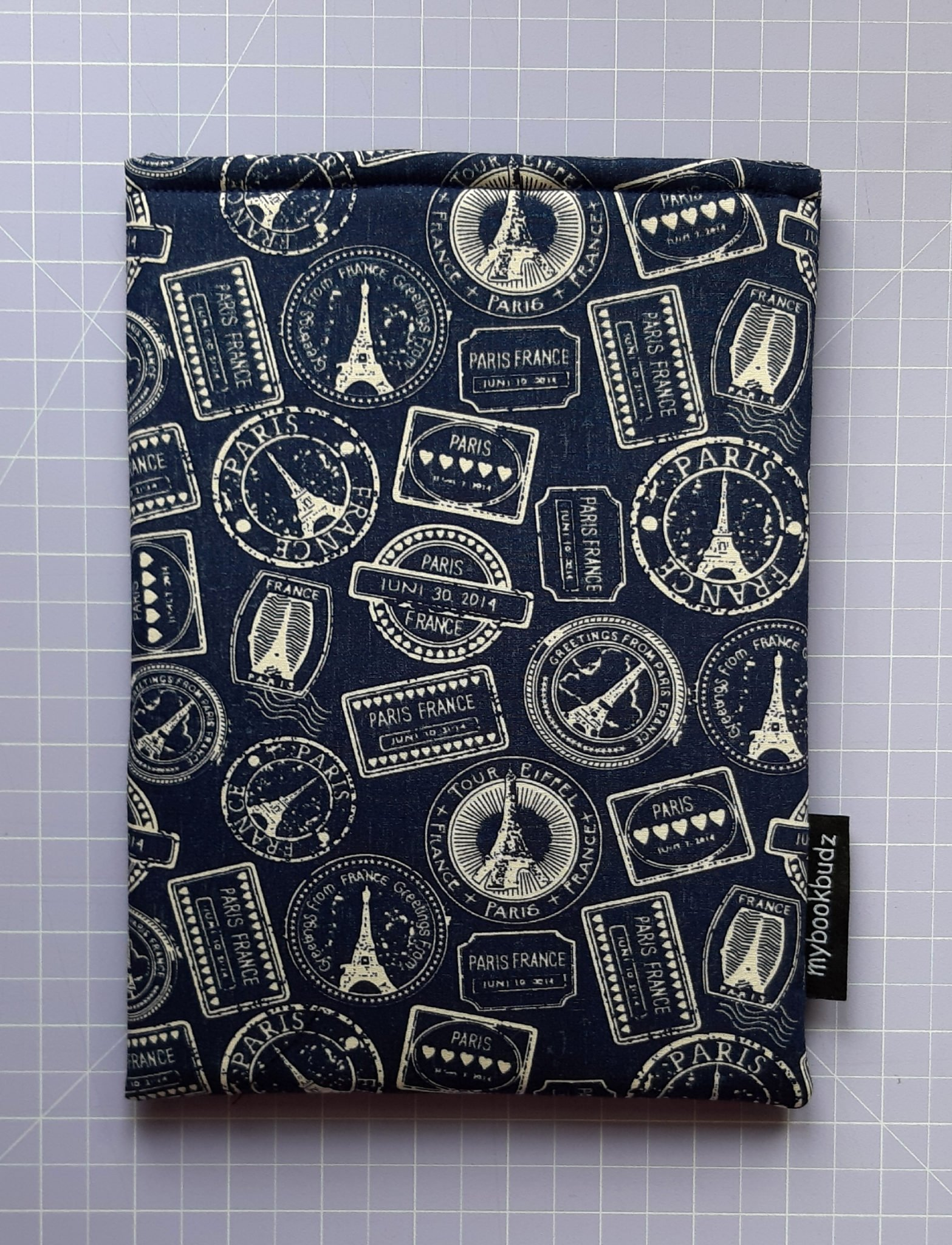 Booksleeve – Eiffel Tower Stamps