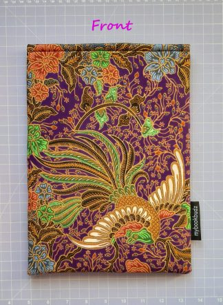 Booksleeve - Purple Batik with Phoenix