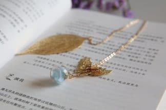 Chain Bookmark with Leaf