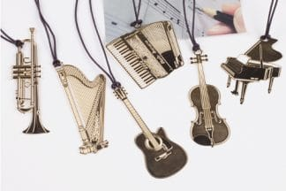 Musical Instrument Metal Bookmark
