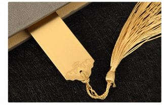 Silver & Gold Metal Bookmark