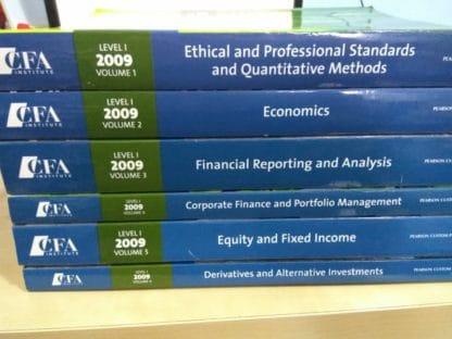 CFA Program Curriculum 2009 (Six-book Set)