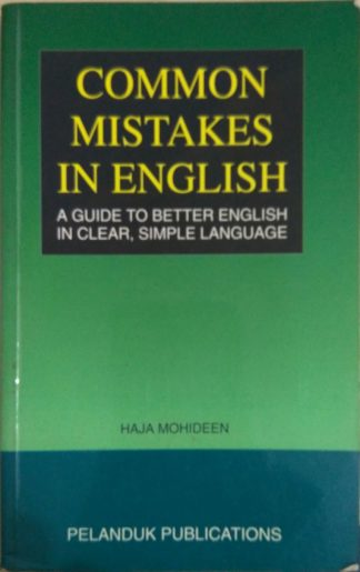 Common Mistakes in English by Haja Mohideen
