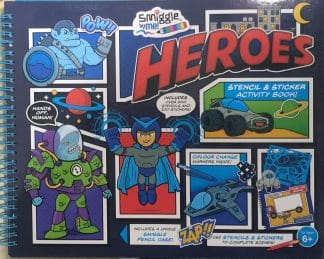 Heroes (Stencil & Sticker Activity Book)