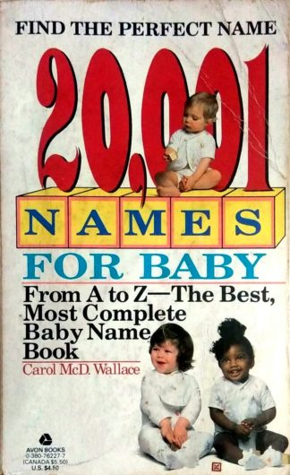 20,001 Names For Baby by Carol Wallace