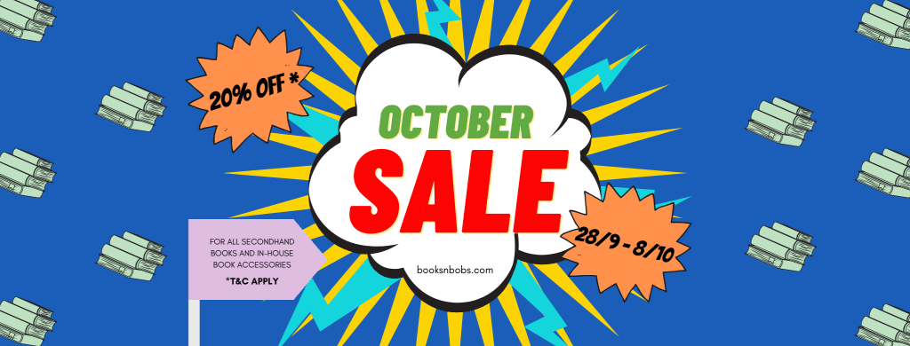 Books n Bobs Amazing October 2020 Sale 20% discount