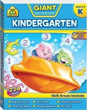 School Zone: Giant Workbook (Kindergarten) by Various Authors