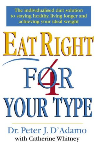 Eat Right For Your Type by Dr Peter D'Adamo