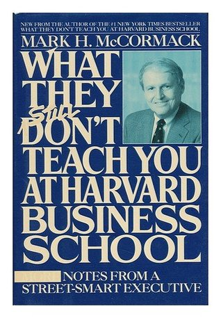 What They Still Don't Teach You at Harvard Business School (Dust jacket missing) by Mark H. McCormack